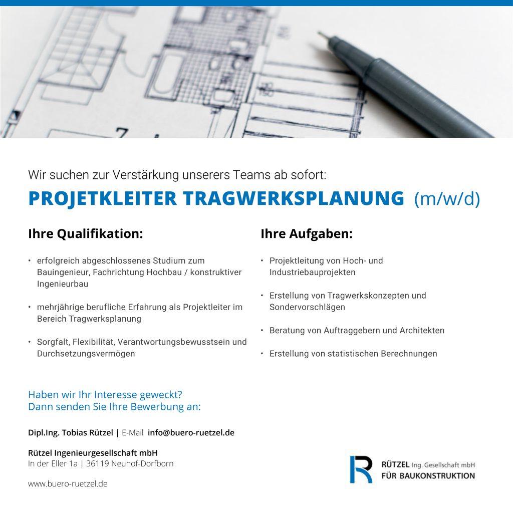 Stellenanzeige_Ruetzel-Ingenieurgesellschaft-PL-Tragwerksplanung