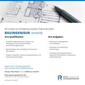 Stellenanzeige_Ruetzel-Ingenieurgesellschaft_Bauingenieur