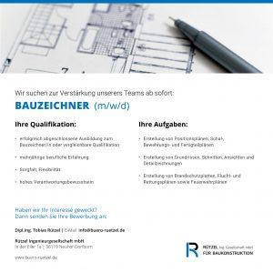 Stellenanzeige_Ruetzel-Ingenieurgesellschaft_Bauzeichner